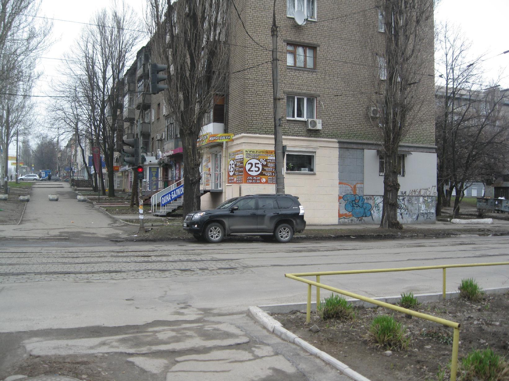 Вид снизу со стороны ул.Украинской