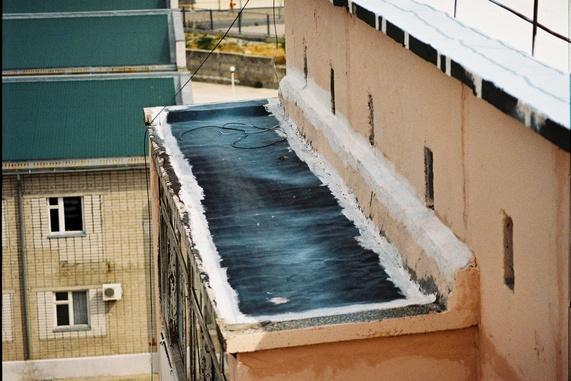 гидроизоляция крыши на балконах в Запорожье_thumb