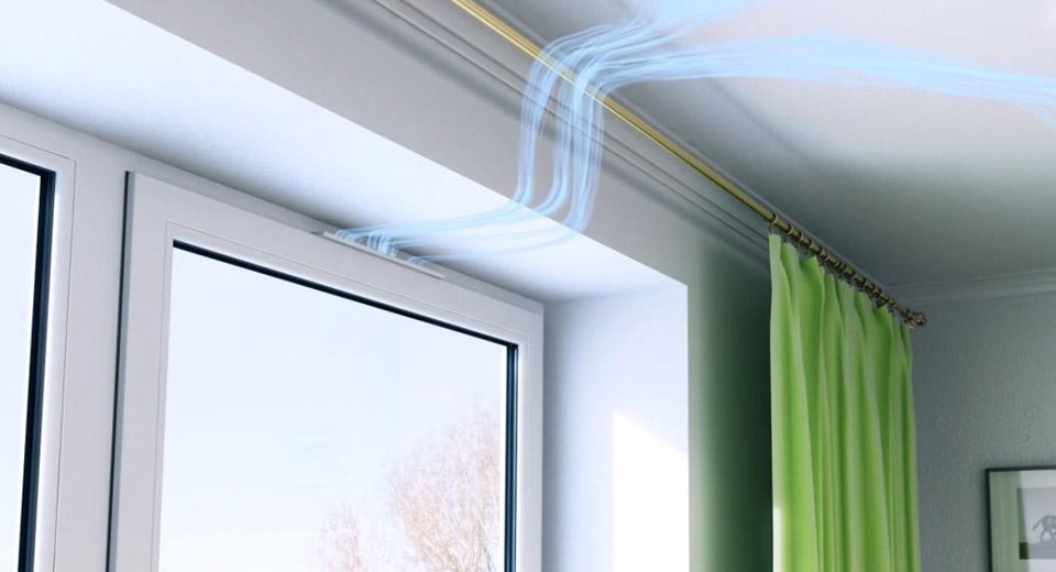 припливна вентиляція вікна