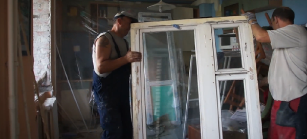 винос старих дерев'яних вікон
