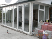 Пристройка (вход в частный дом) из пластиковых окон в Запорожье