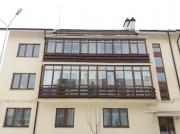 "Монтаж балкона в комплексе ""Бородино"" г.Запорожье. Односторонняя ламинация окна ""Steko"""