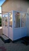 Пристройка (вход в частный дом) из пластиковых окон Стеко