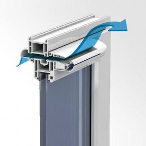 Клімат-контроль для пластикових вікон в Запоріжжі - вентиляція вікон